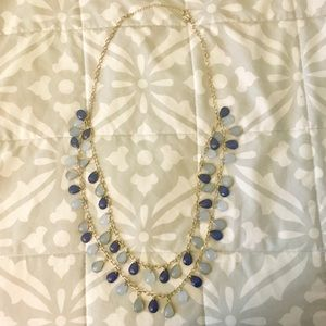 Charming Charlie Long Blue Fashion Necklace